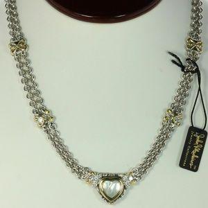 John Medeiros Mother of Pearl Heart Necklace - USA